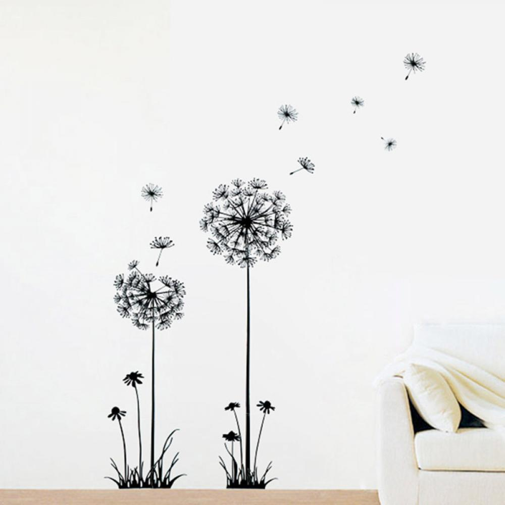Creative 68*30cm Dandelion Wall Art Decal Sticker Removable Mural PVC Home  Decor 100% Brand New Free Shipping In Wallpapers From Home Improvement On  ...