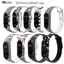 2018 newest mi band 2 strap pulsera Colorful wrist strap replacement correa band 2 belt pulseira silicone straps for xiaomi mi2