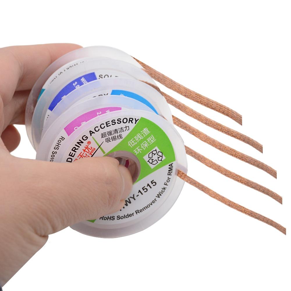 1PCS 1515 2015 2515 3015  Width 1.5mm 2.0mm 2.5mm 3mm 3.5mm Length 1.5MDesoldering Braid Solder Remover Wick Wire Repair Tool