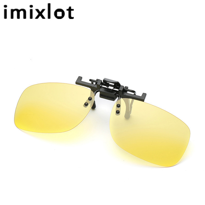 a6ec28731a IMIXLOT Polarized Sunglasses Clip on Light Super Sun Glasses Men Unisex  Eyeglasses Deep Green Lens Driving