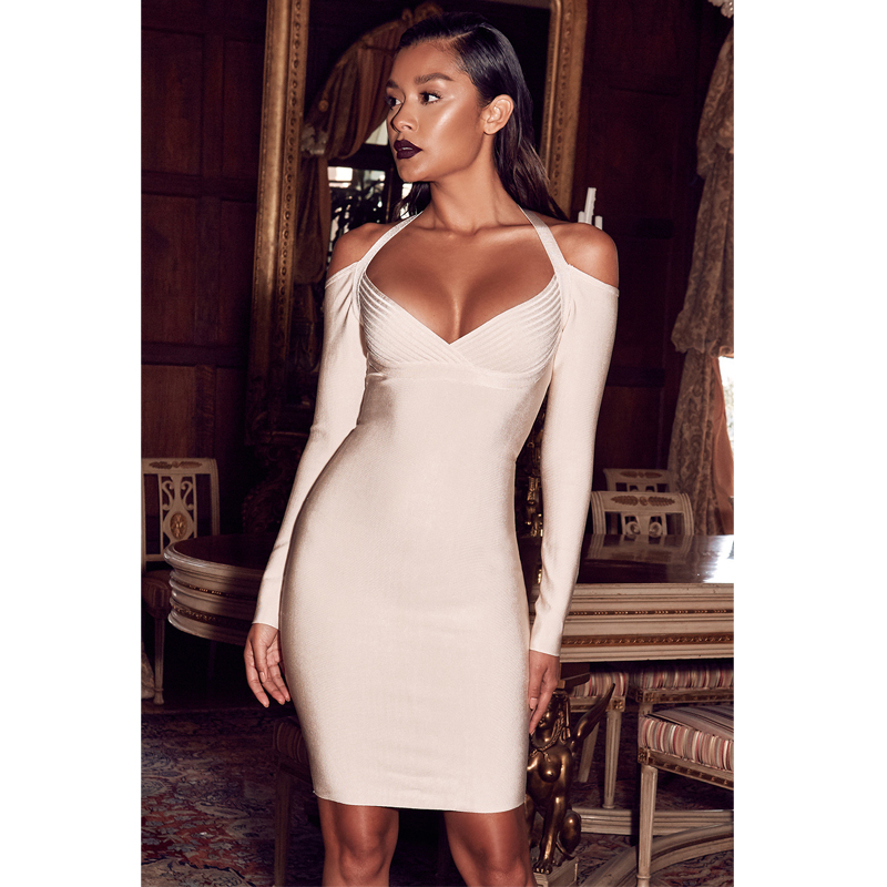 Women's Clothing Lower Price with Top Quality White Lace Slip Rayon Bandage Dress Evening Party Bodycon Elegant Dress Attractive Designs;