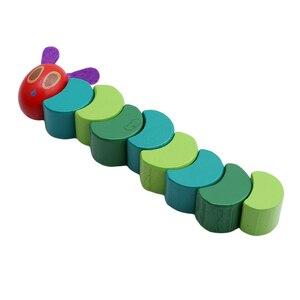 Image 4 - Ahşap bloklar çocuklar esnek blokları Montessori çok aç tırtıl oyuncaklar çocuklar için G0388
