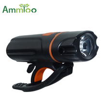 AmmToo Bicycle Front Light Cycling Bike Flashlight Waterproof flashlights Bicycle Lamps Power Bank Rechargeable Bike Accessories