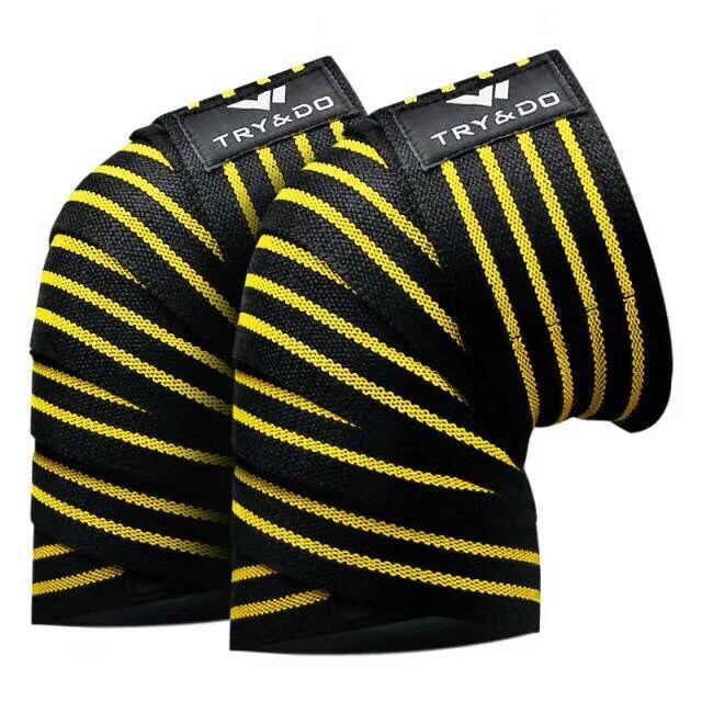 strip Breathable Knee Support1 Pair Powerlifting Knee Wraps Adjustable Compression Sleeves for Crossfit Weightlifting Training