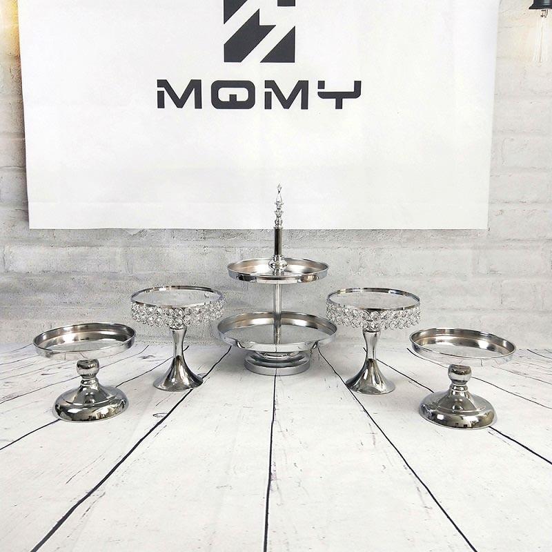 Support de gâteau miroir en argent support de Cupcake en métal galvanoplastie Grand Design cuisson amour fête de mariage Dessert décoration de Table