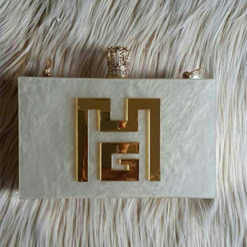 YENS Handmade Bling Acrylic Clutch Custom Name Clutch Evening Bags Wedding Bridesmaid Handbag Different Colours Available