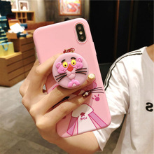 Silicone Case For iPhone 8 7Plus 6 6Plus Case Soft TPU Cover Leaves Bird For iPhone 7 8Plus X soft shell airbag bracket