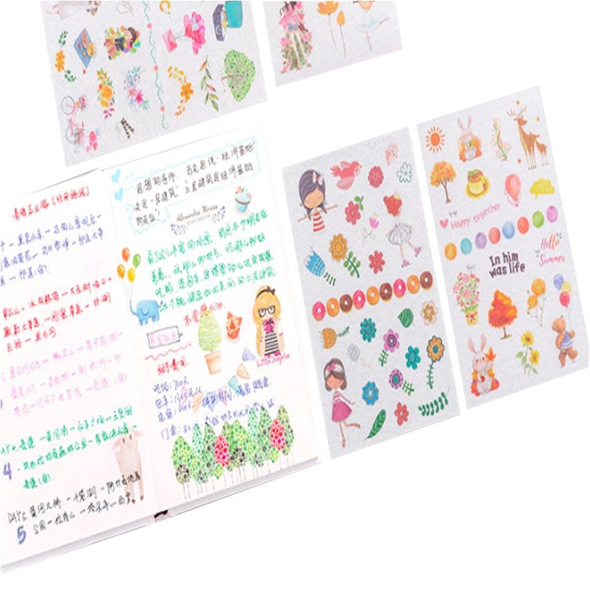 6pcs//lot Diary Decoration Scrapbooking Transparent Stationery Planner Sticker