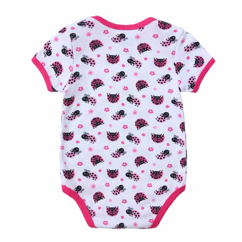 Cute Newborn Baby Girl Bodysuit Printed Body Suit Summer Children Girl Boy Short Sleeve Children Set  Infant Jumpsuit Overalls