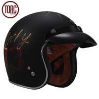 TORC Cruiser Motorcycle Helmet Harley Open Face Vintage Helmet T5095 Moto Casque Casco Motocicleta Capacete DOT