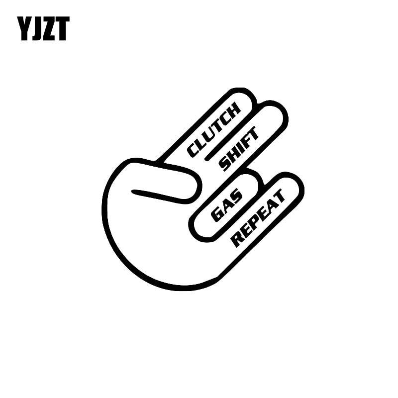 YJZT 14CM*14.1CM Competition Clutch Vinyl Decal Car