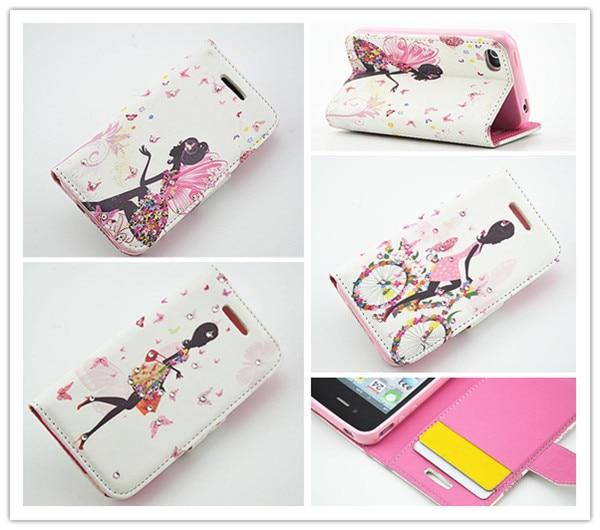 Free shipping Wallet Magic Luxury Beauty Girl Magnet Flip