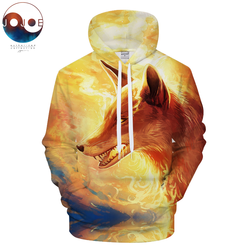 Fire Fox by JojoesArt 3D Fox Printed Hoodies Sweatshirt Men Hoody Unisex Tracksuit Casual Streetwear Drop Ship ZOOTOP BEAR
