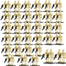 Wholesale Star Wars 100pcs Battle Droid C3-PO Model Set Legoingly Building Blocks kits Brick Figures Toys for Children(China)