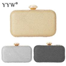 Gold Crystal Beaded Evening Party Clutch Bag Luxury Pochette Femme Women Wedding Purse Handbag Clutch Pochette Mariage Sac Femme xiyuan brand mini clutch bags box luxury crystal evening bags party clutch purse gold women wedding bag soiree pochette silver