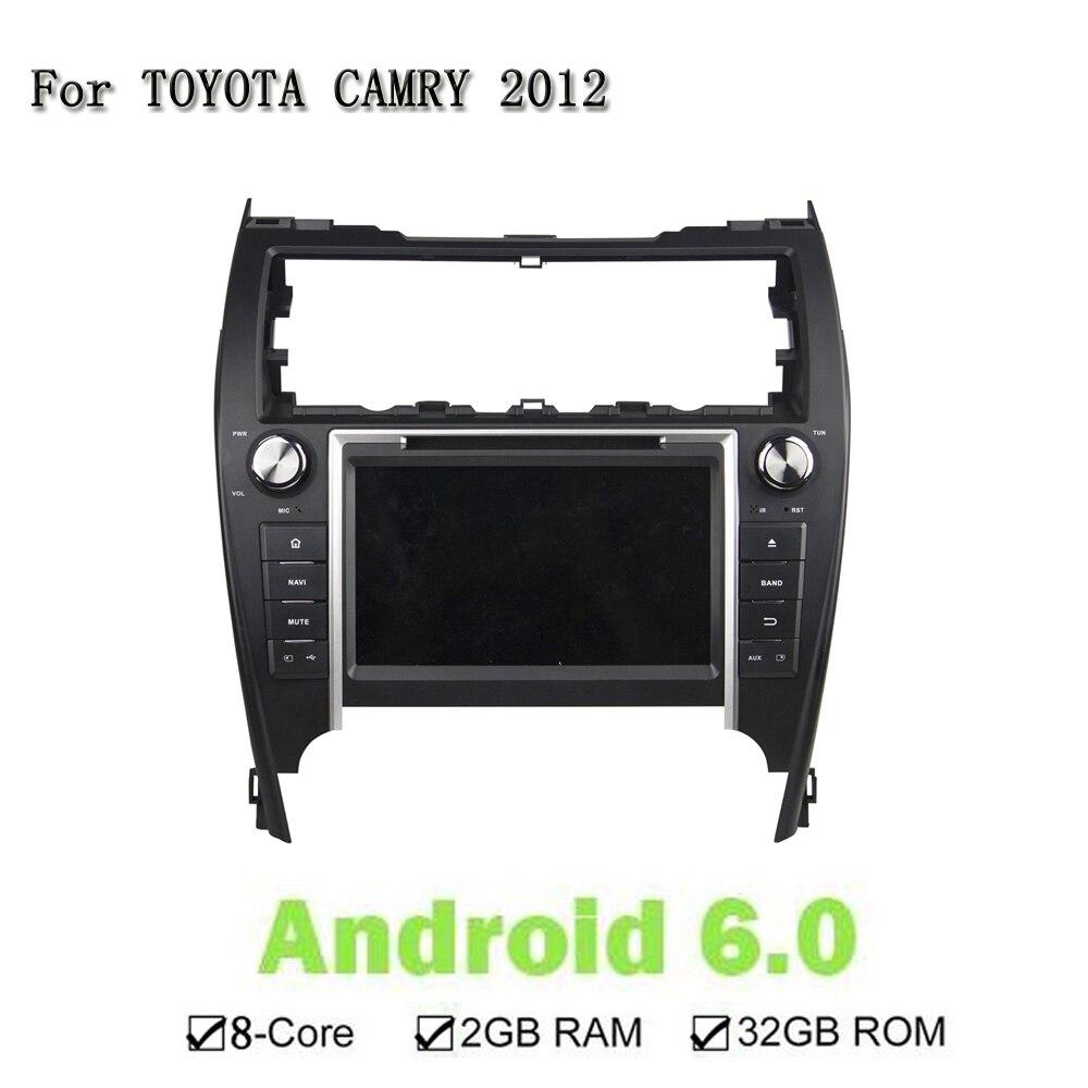 8 Android 6,0 Octa Core голову Унти мультимедиа dvd-плеер автомобиля для Toyota США модель CAMRY 2012 gps Navi радио стерео 2 ГБ Оперативная память 32 ГБ
