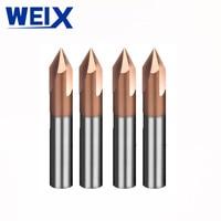 מכונת סוף WEIX 1PC 90A טחנת Solid Carbide chamfer סוף CNC כרסום קאטר HRC50 טונגסטן פיסות הנתב פלדה מכונת חיתוך (3)