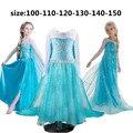 Princesa vestido niñas disfraces snow queen Elsa Cosplay Carnaval vestido menina bebé niños niñas vestido de fiesta tamaño de Edad 4 6 7 10 años