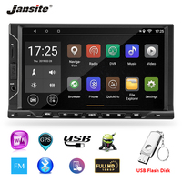 Jansite 7 Универсальный 2 din Автомобильный Радио Android 8,1 плеер dvd с сенсорным экраном RAM2G Bluetooth двойной слиток плеер с 32G U флэш диск