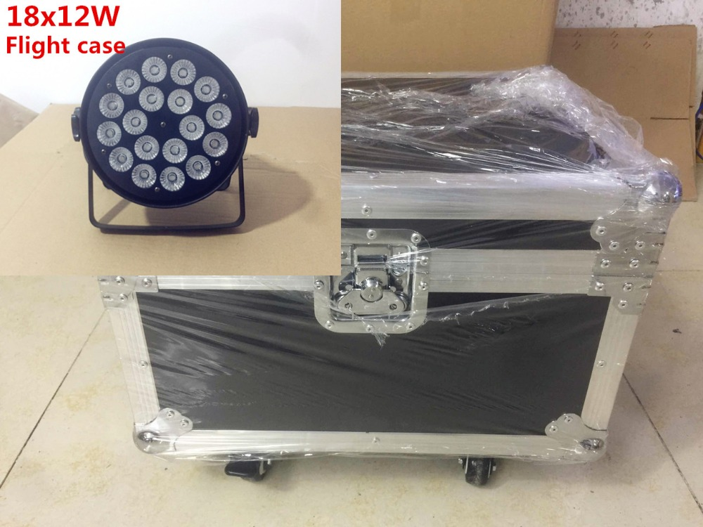 4pcs18x12W + Flight case led par light RGBW 4in1 18x15W Led Par Light DMX Stage Lights 6pcs 24x12w led par lights with 1 flight case rgbw 4in1 led par light dmx 512 control professional stage lighting equipment