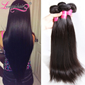Unprocessed 7A Indian Virgin Hair Straight Cheap Virgin Hair Bundle Deals Indian Straight 3pcs Natural Black Color Longqi Hair
