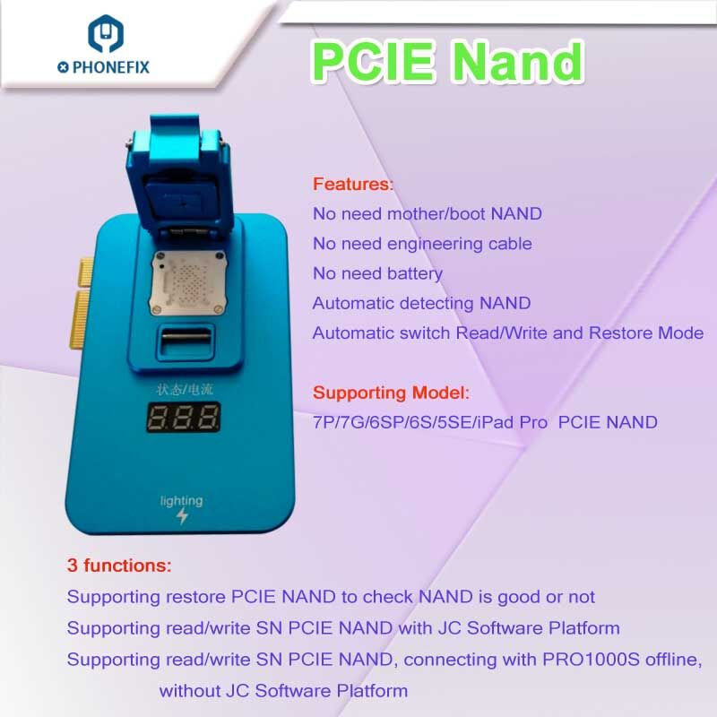 Programmer Tools Memory Upgrade PCIE Box IPad IPhone For NAND Naviplus Pro3000S SN JC Read Pro1000S P7 JC IP All Write