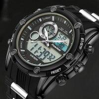 Top Sport Men Quartz Watch Hour Clock Men Analog Digital LED Men Sport Military Wrist Watch