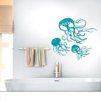 Mariene leven kwallen vinil muurstickers kinderkamer woonkamer badkamer nautische woondecoratie afneembare arte behang mural ys20