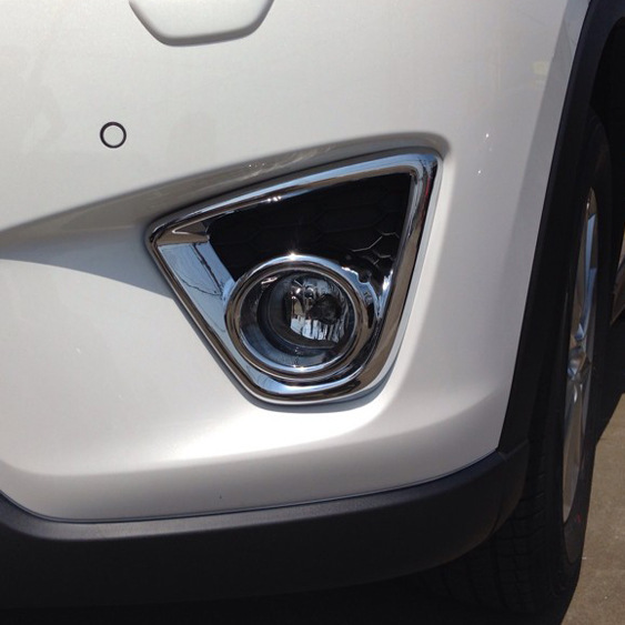 For <font><b>Mazda</b></font> CX-5 <font><b>CX5</b></font> CX 5 2013 <font><b>2015</b></font> abs Chrome Styling Front Foglight Cover Car <font><b>Accessories</b></font> Front fog light box Car Stickers 2pcs image