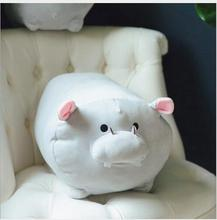 WYZHY  New Year Gift Mascot Down Cotton Kneeling Hippo Doll Plush Toys Send Friends Childrens Birthday Gifts 30CM