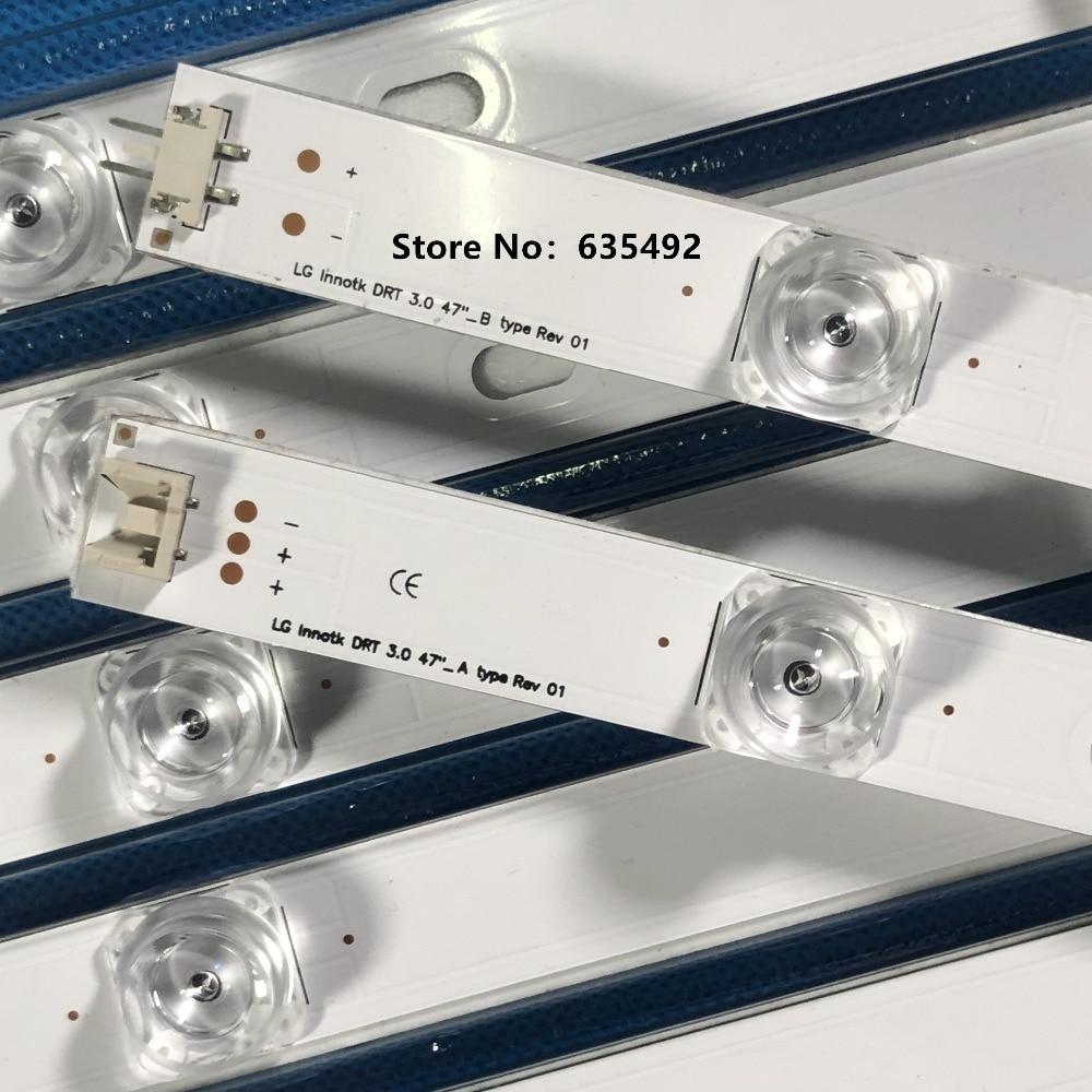 Image 4 - NEW LED backlight strip Array for LG 47inch TV 47LB6300 LG innotek LC470DUH DRT 3.0 47 inch A B type 6916L 1715A 6916L 1716A-in LED Bar Lights from Lights & Lighting