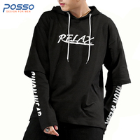 2017 Fashion Men Hooded Sweatshirts Hip Hop Shirt Men Large Size Casual Loose Hoody Autumn Male