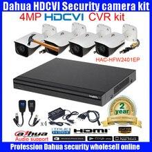 Original English DAHUA 4MP VANDALPROOF CAMERA DH-HAC-HFW2401EP cvi dome camera with 4MP Digital CVR  HCVR7104H-4Mcamera kit