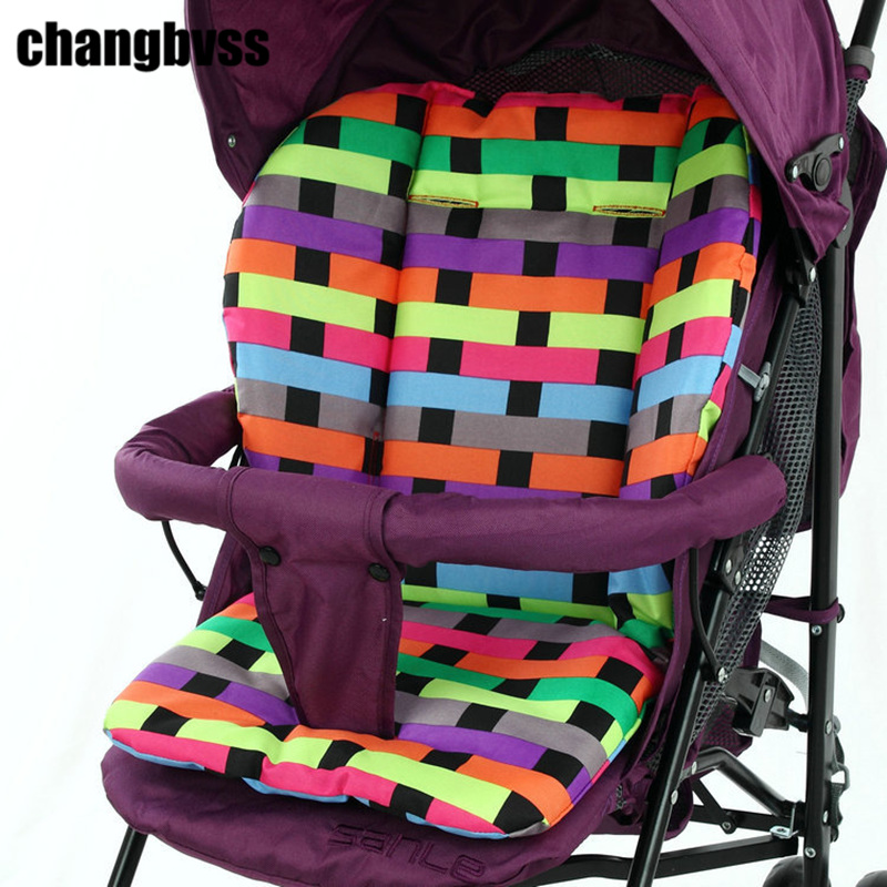 Colorful Baby Seat Cushion Padding Liner,Kids Pushchair Cotton Mat,Breathable Pram High Chair Seat Mattress Pad Cushion