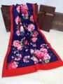 Novelty Reversible Flowers&Plaid Pashmina Cape Women's Winter Artificial Cashmere Stole Cape Thick Warm Poncho Chal mantilla