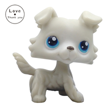 pet shop lps toys COLLIE Dog 363 Light Grey Puppy With Blue Eyes Collections Standing For