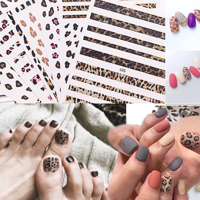 1sheet Leopard Print 3D Nail Art Sticker Adhesive Decal Nail Wraps DIY Nail Designs Decoration Sexy Women Stickers Drop Shipping1sheet Leopard Print 3D Nail Art Sticker Adhesive Decal Nail Wraps DIY Nail Designs Decoration Sexy Women Stickers Drop Shipping