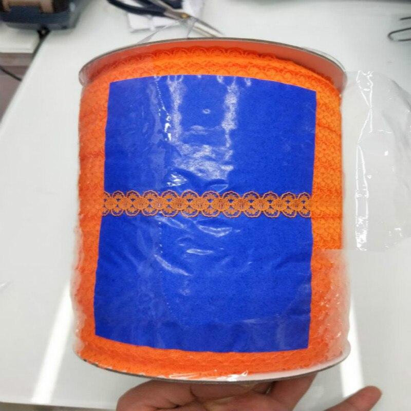 Новинка! 10 ярдов/партия красивая мм 15 мм широкая оранжевая кружевная Лента кружевная вышивка кружевная одежда отделка украшения