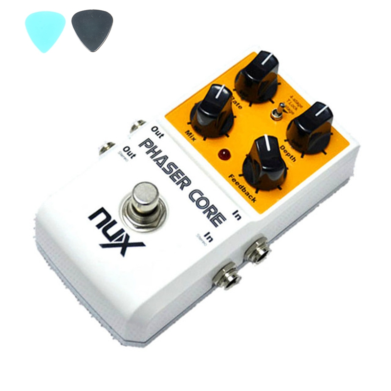 ФОТО NUX Phaser Core Withe Phase Shifter Modulation Stomp Single Effect Pedal Tone Lock Preset Function True Bypass Free Shipping