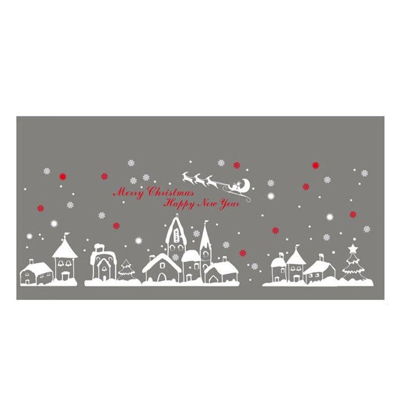 Diy home decor neue schnee stadt weihnachten wand aufkleber fenster ...