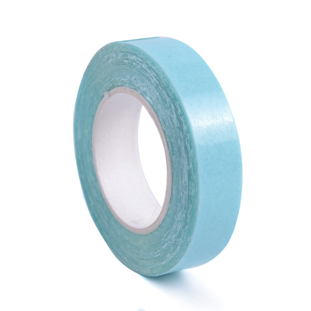 NEW 1cmx3m  Blue  Dedicated Professional Roll Strong Adhesive Double Side Tape For Hair Extension