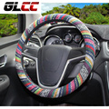 Universal Car Auto Steering Wheel Cover 38cm/ 15'' Steering-Wheel Wrap Natural Fibers Anti Slip Breathable national customs