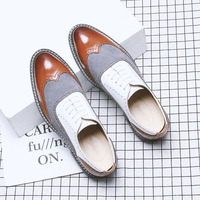 Mens spring fashion mixed colors BIG SIZE 38 48 leather shoes male casual dress lace up wedding shoes for young men shoes A094