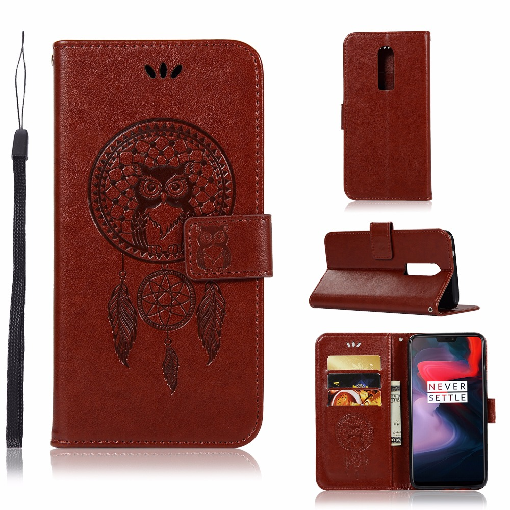 Purposeful One Plus 6 Case For Oneplus 6 Oneplus6 A6000 1+6 Phone Case Pu Leather 3d Pattern Owl Flip Stand Cover For Oneplus 5t 1+5t Coque 50% OFF Consumer Electronics