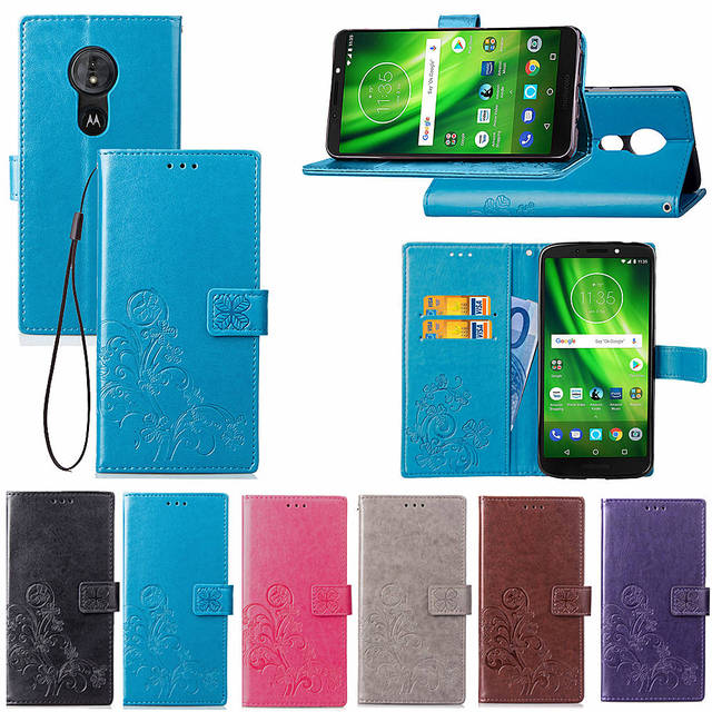 hot sale online d280c 92e6b US $4.99 |For Motorola Moto G6 Play Case Moto G6 Plus Cover PU Leather Back  Cover Phone Case For Motorola Moto G6 Play Plus Case Flip-in Flip Cases ...