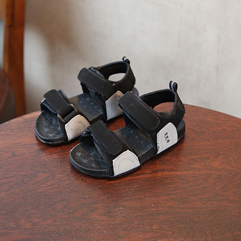 Summer Kids Soft Fashion Beach Sandals 2018 High Quality Girls Boys Antislip Sandals Children Breathable Stripe Sandals