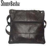 2016 New Brand Genuine Leather Men Messenger Bag Vintage Cowhide Crossbody Bags For Man Bolso Shoulder