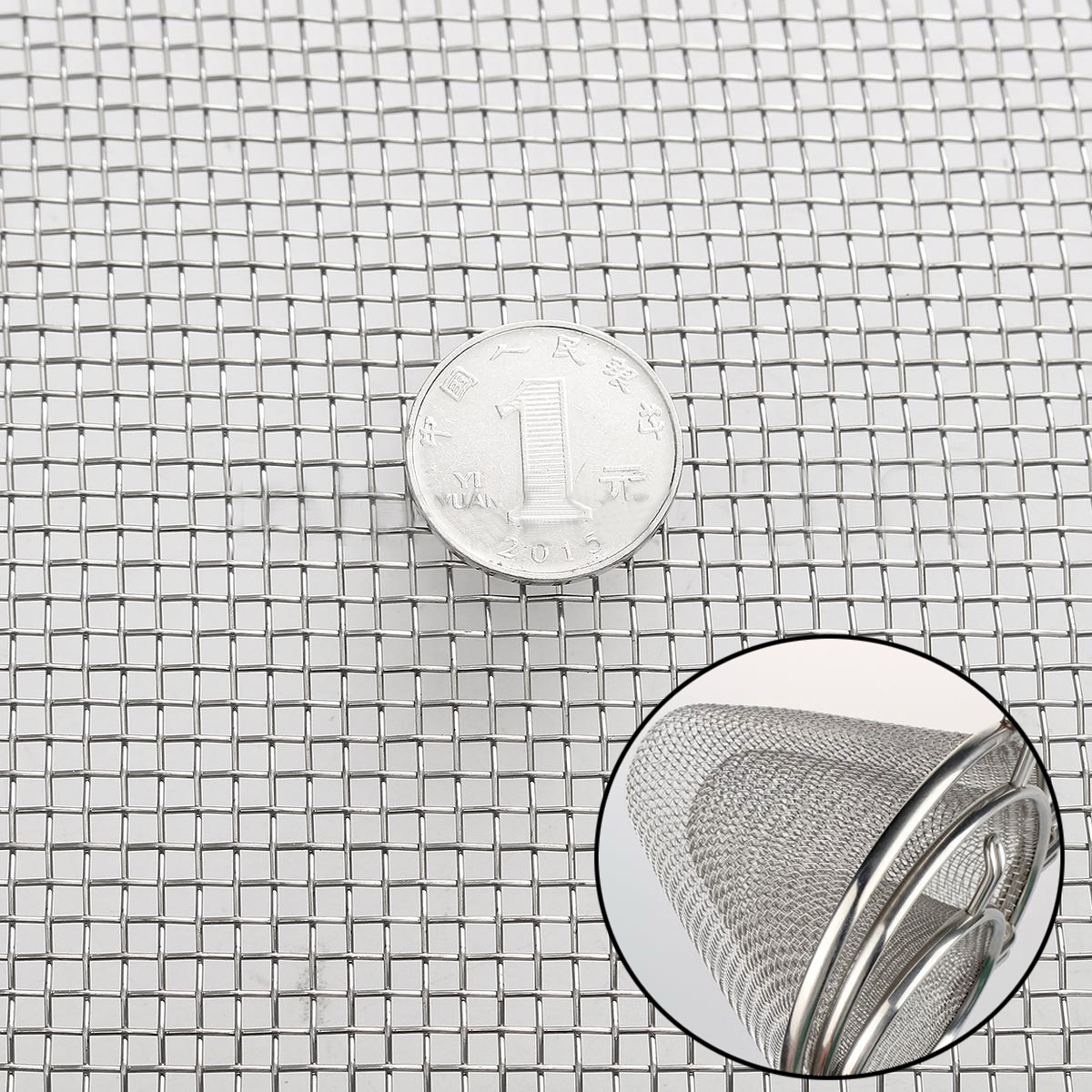 DWZ 1pc New 30cm * 60cm 304 Stainless Steel Mesh #8 .035 Wire Cloth Screen 16 * 24 1 roll stainless steel woven wire cloth screen filter 120 mesh 125 micron 30x90cm with corrosion resistance