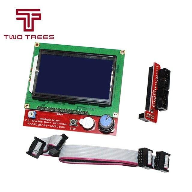 12864 LCD rampes pièces intelligentes rampes 1.4 contrôleur panneau de commande graphique LCD 12864 écran moniteur carte mère écran bleu Module