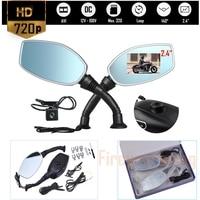 Moto Side Mirror Dvr Motorcycle Rearview Mirror Camera Auto Digital Video Recorder Dash Cam Dual Lens Camcorder Auto Registrar